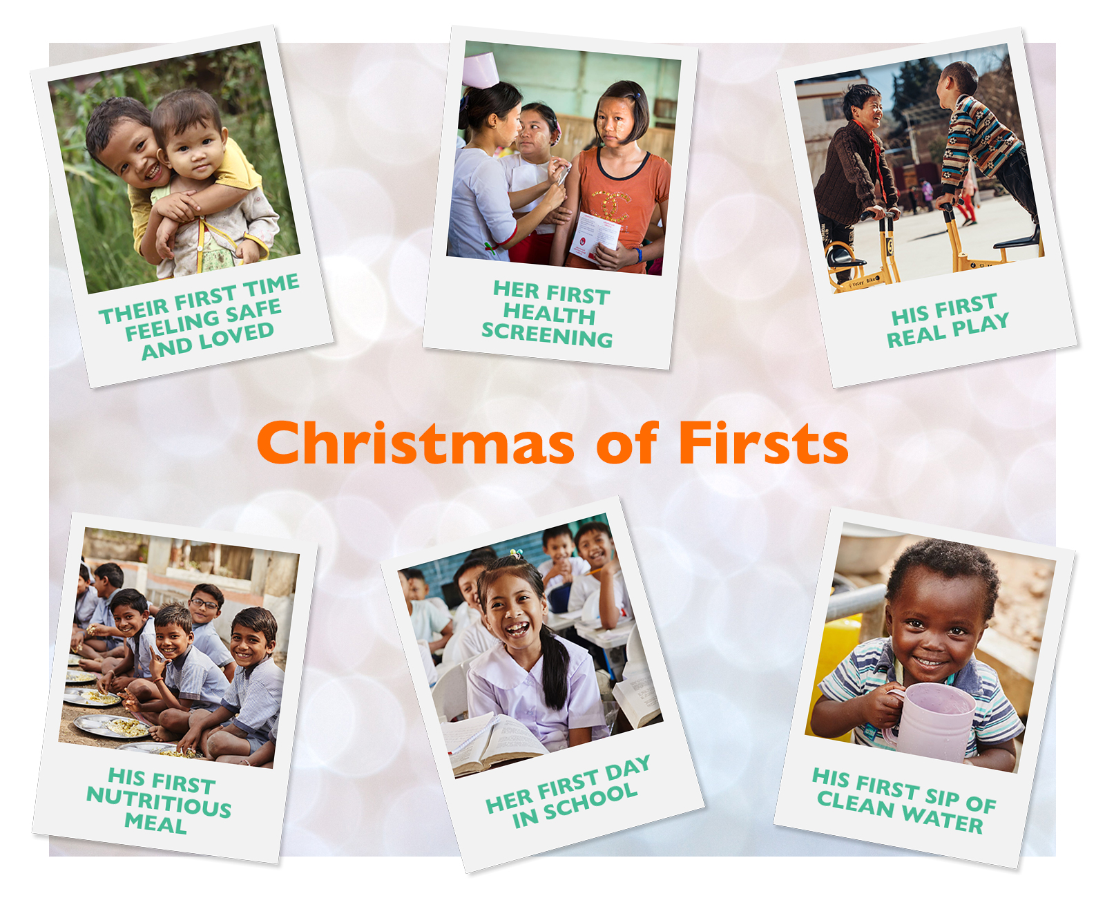 when you sponsor a chid-in-need this Christmas, you gift them with new experiences of firsts!