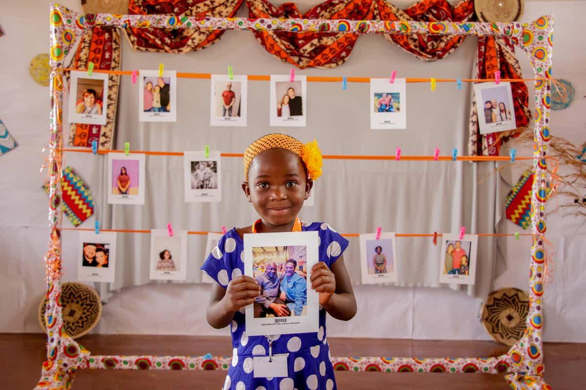 A Zambian child with her Chosen sponsor