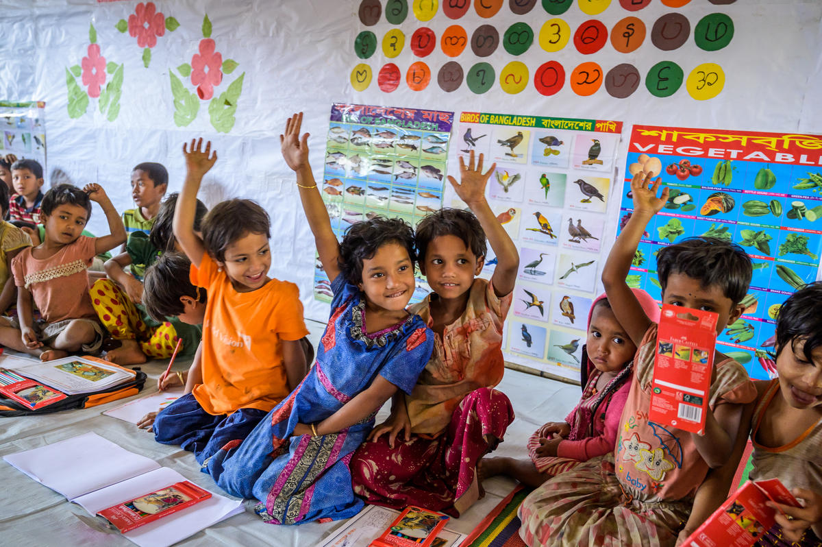 Children in World Vision's Child-Friendly Spaces in Bangladesh