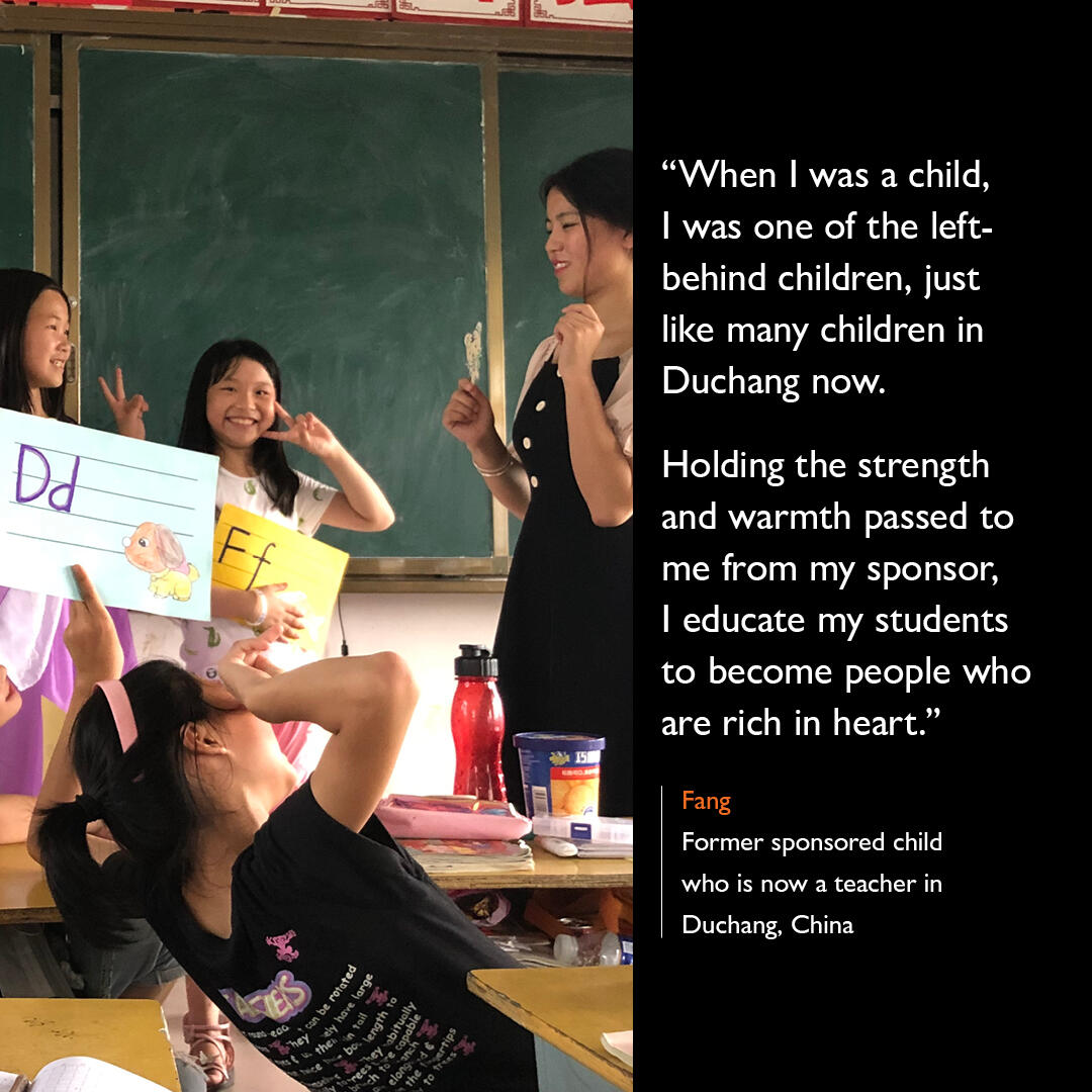 The impact of Child Sponsorship in Fang's Life