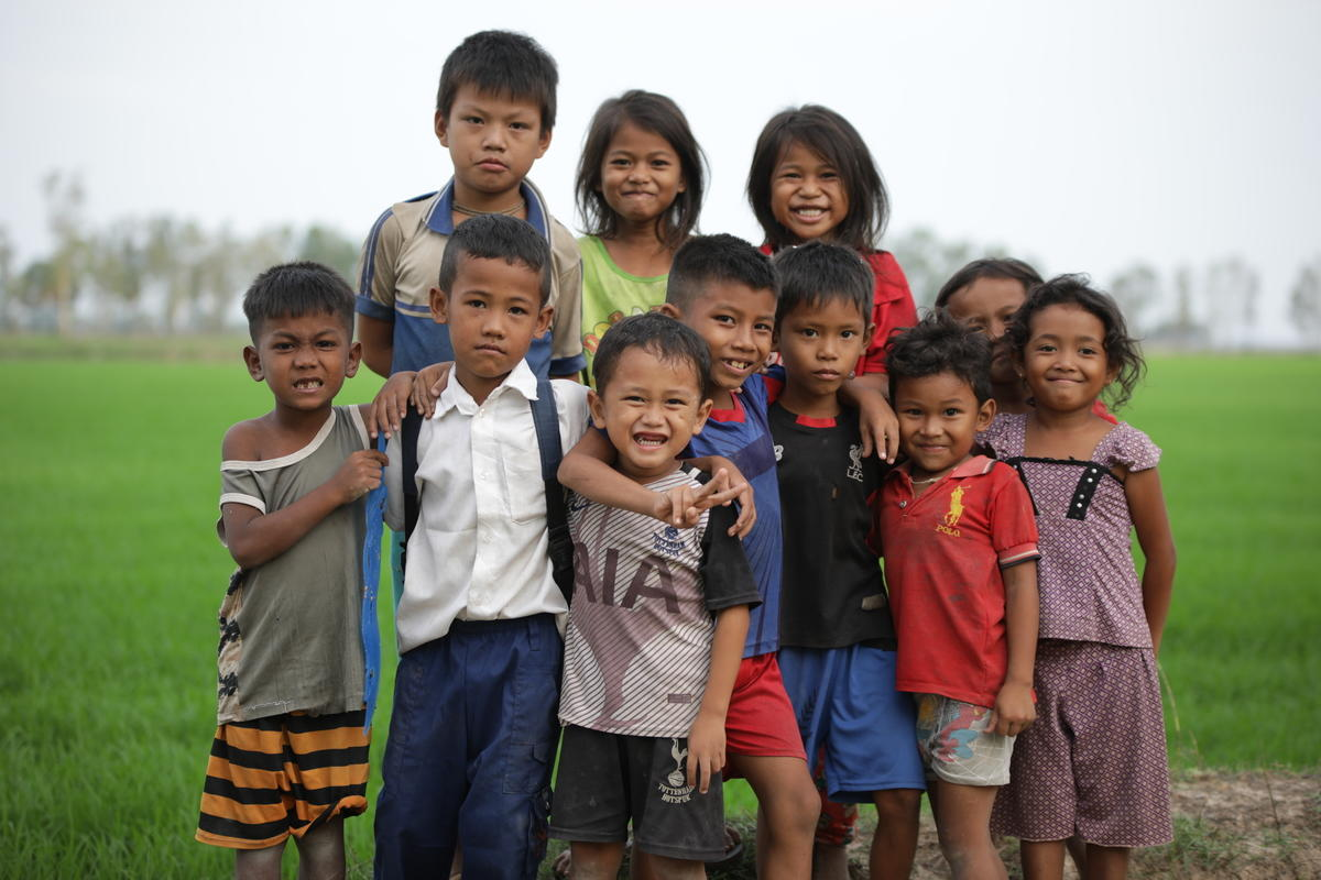 Children in Cambodia - Beneficiaries of World Vision's Child Sponsorship Programme