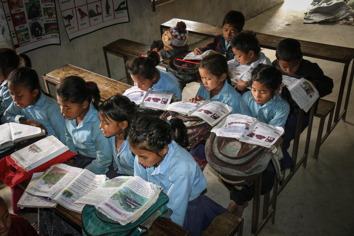 A classroom in Nepal