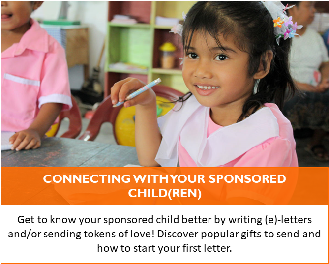 There's so many ways to interact with your sponsored child - find out how!