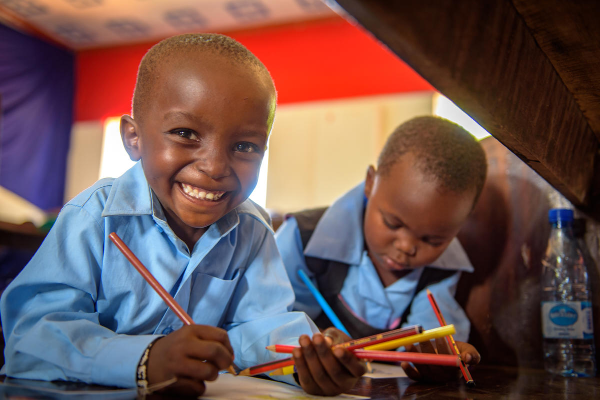 A sponsored child writing to his sponsor