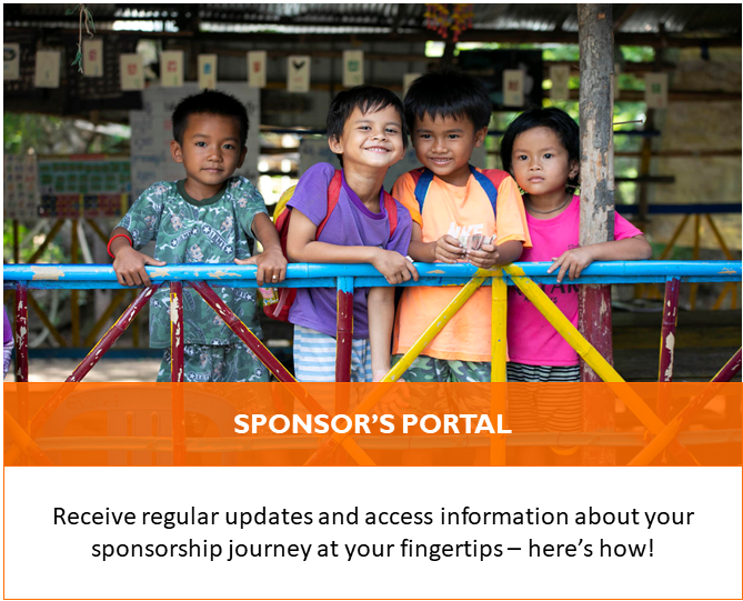 As child sponsors, you have a portal to keep track of your sponsorship and givings! Find out how to make use of it!